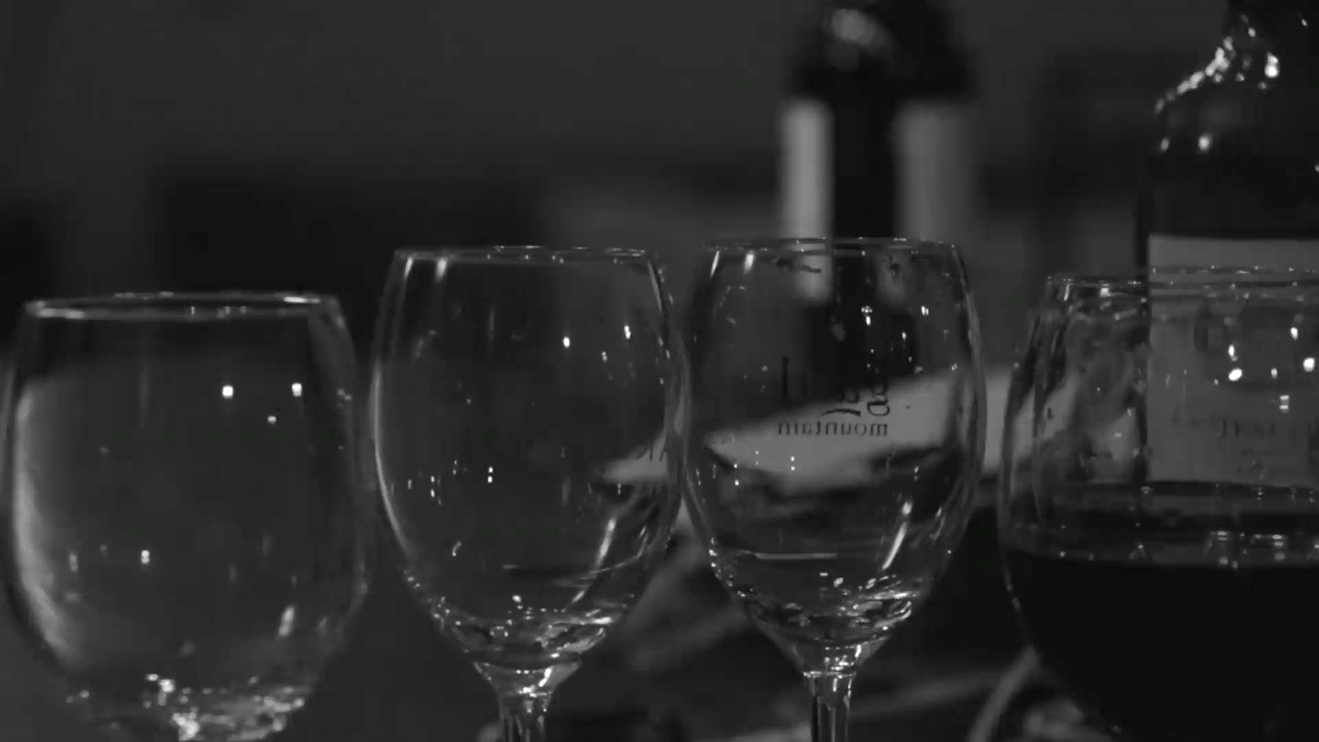 Vu sur des verres et bouteille